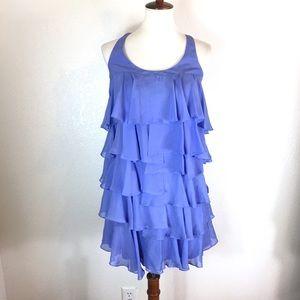 Cynthia Steffe silk ruffle layered dress